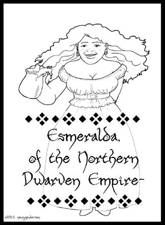 Bard Card - Esmeralda