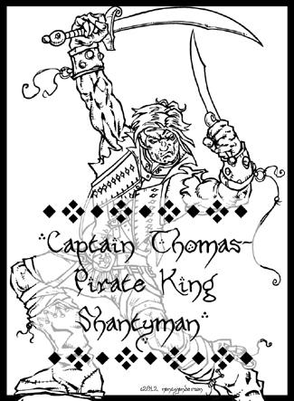 Bard Card - Captain Thomas Pirate